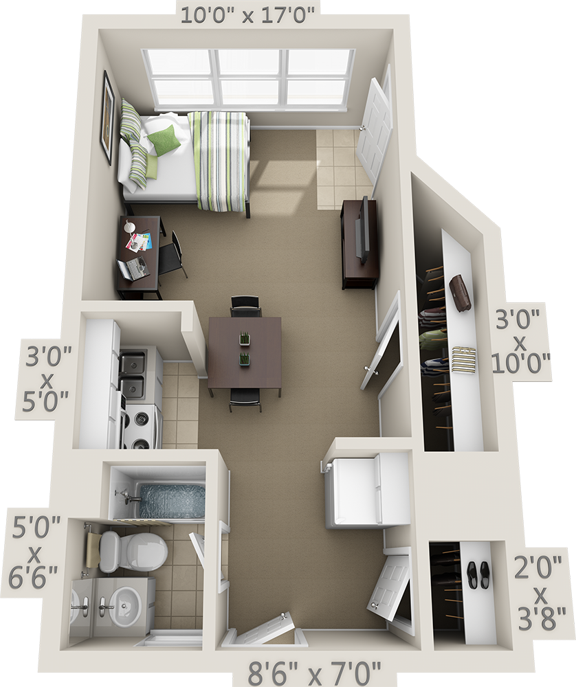 College Park Apartments: Floor Plans - College Park Apartments