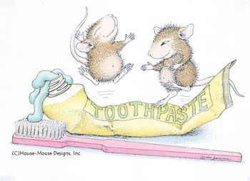 'Mudpie and Maxwell play with Toothpaste', © HouseMouse