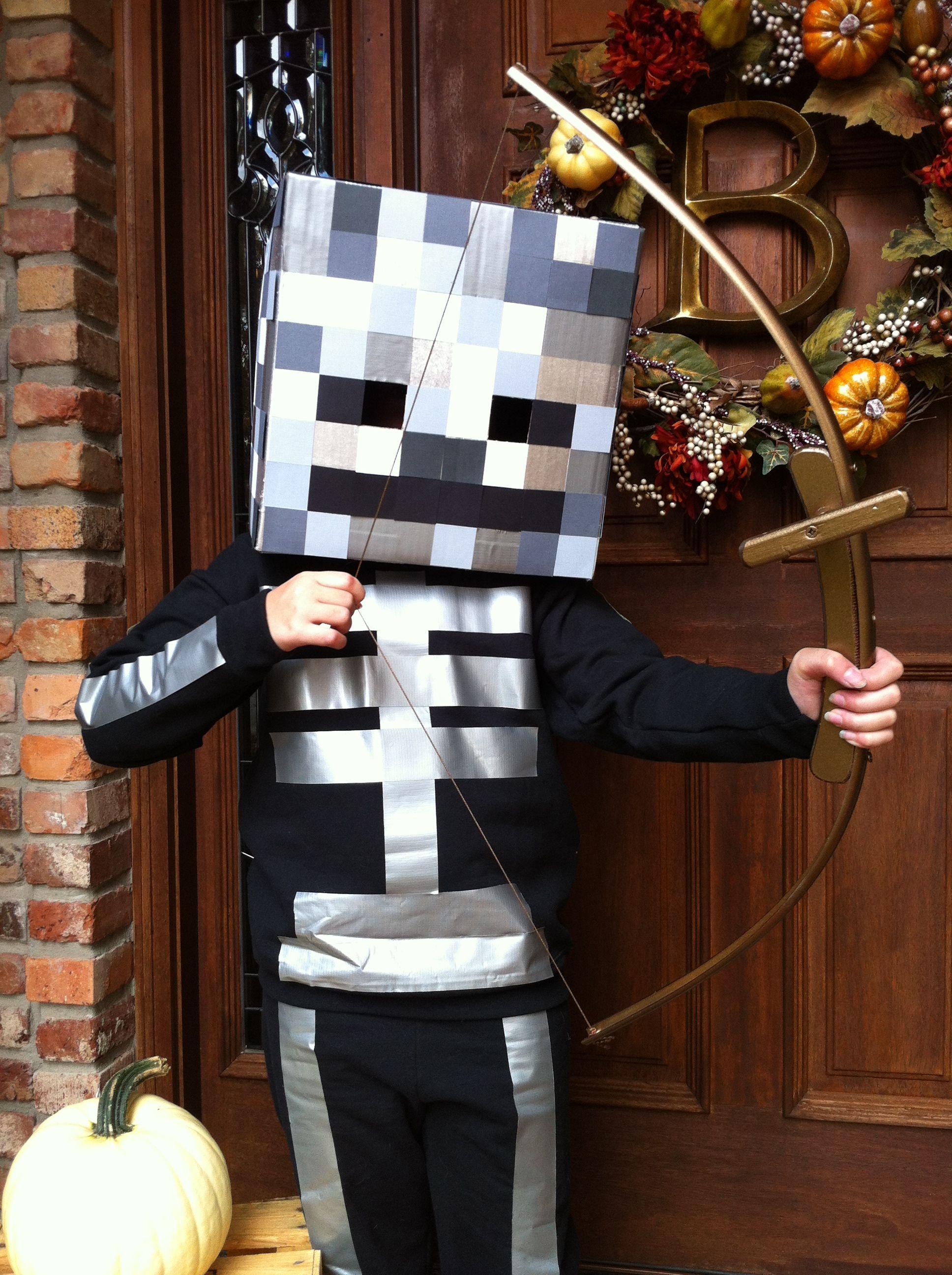 homemade minecraft skeleton costume | halloween | pinterest