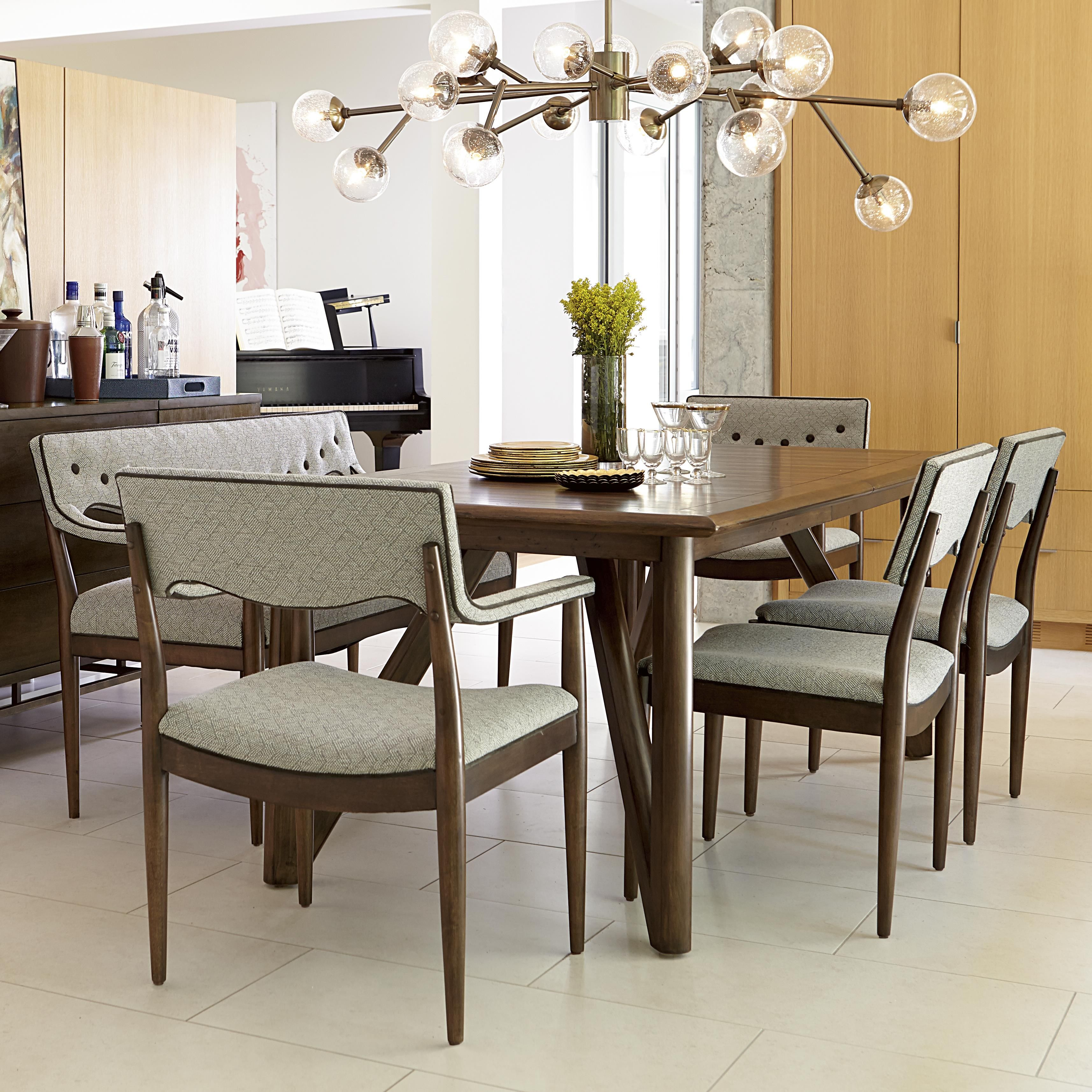 Open And Airy Triangular Shape Legs Bring A Mid Century Modern Inspired  Look To This
