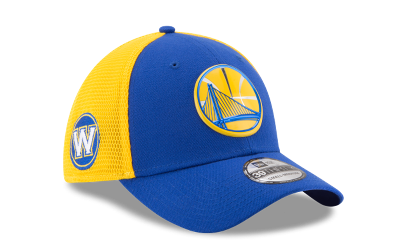 detailed look 65710 c5c6a Men s Golden State Warriors New Era 2017 Blue Yellow On Court 39THIRTY Flex  Fit Hat