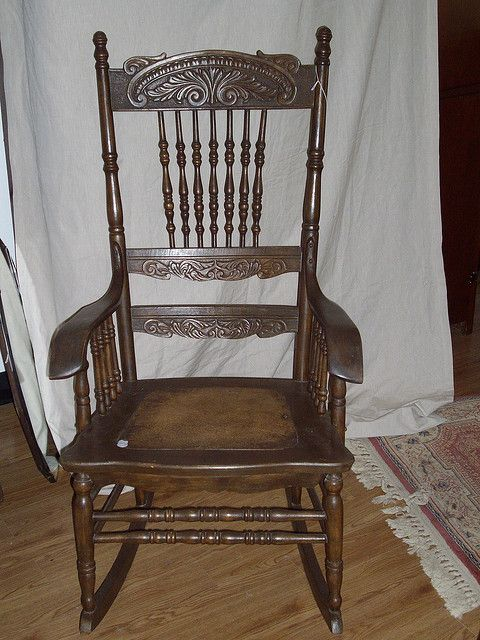 Late 19th Century Canadian pressed back carver arm rocking chair, in  excellent condition.Price $1000 Watching fine art and antiques auctions  ending online.