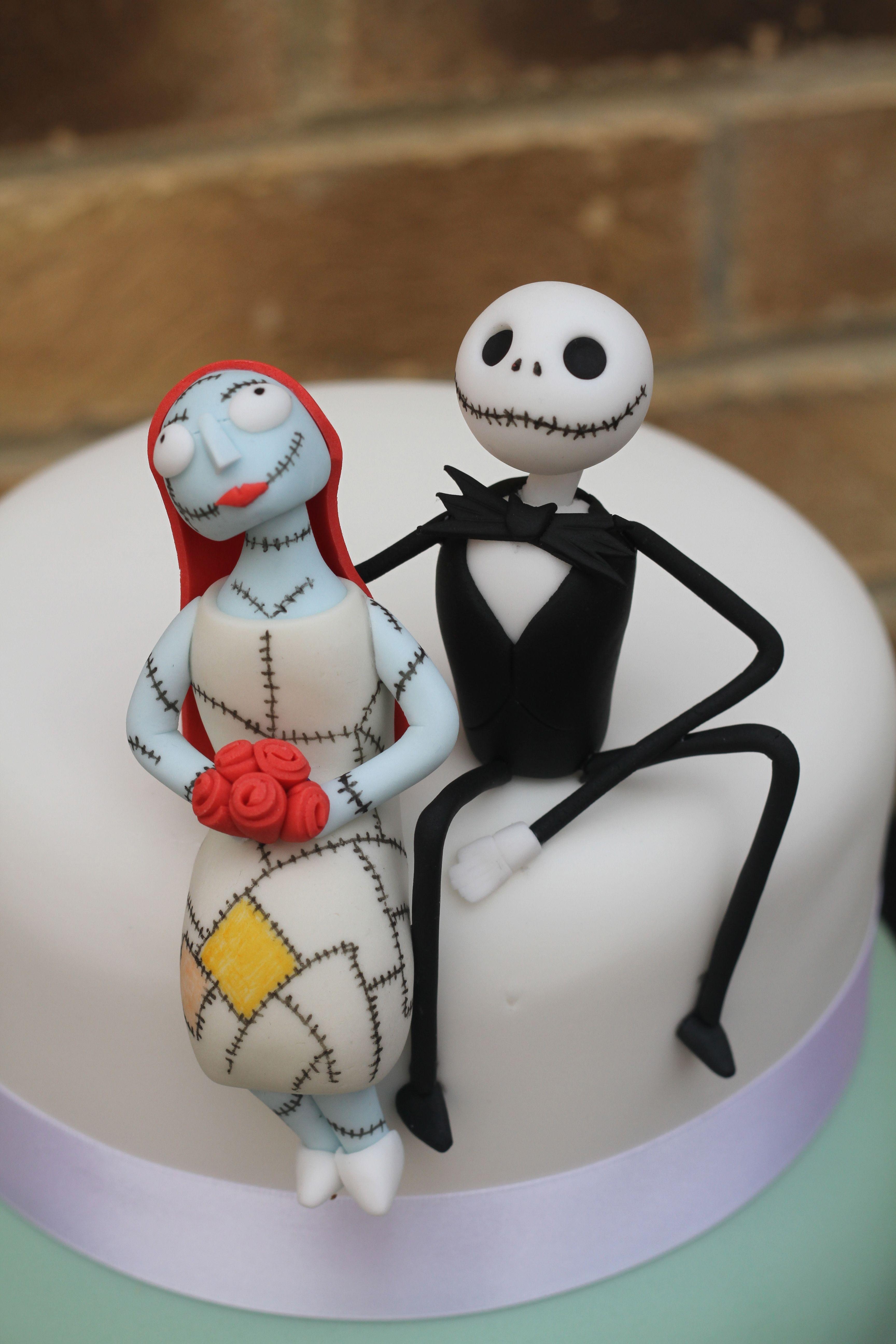 Jack and Sally Nightmare before Christmas cake Halloween cakes