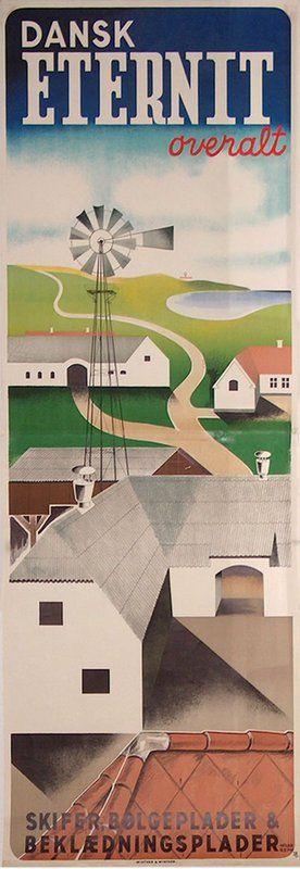 Dansk Eternit Illustration Danmark Steder