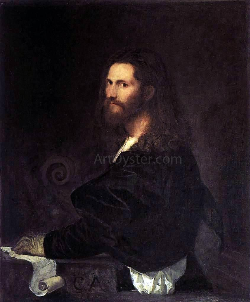 Portrait Of A Musician By Titian Hand Painted Oil Painting In