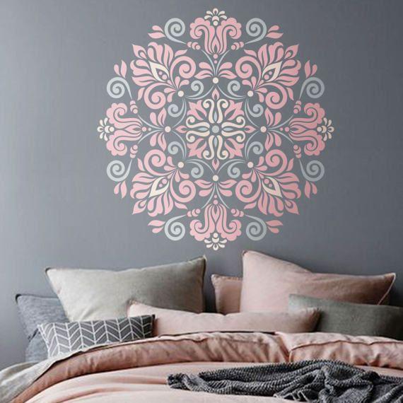 Schon Mandala Schablone Blumen Muster Für DIY Wand Dekor Modern Home Dekorative  Schablonen Mandala