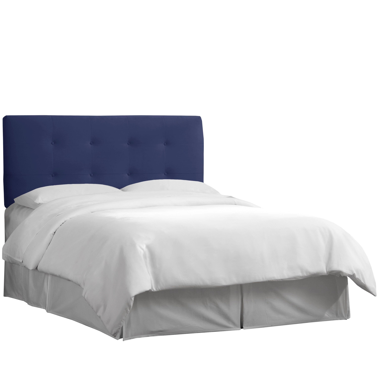 Skyline Furniture Tufted Navy Velvet Upholstered Headboard
