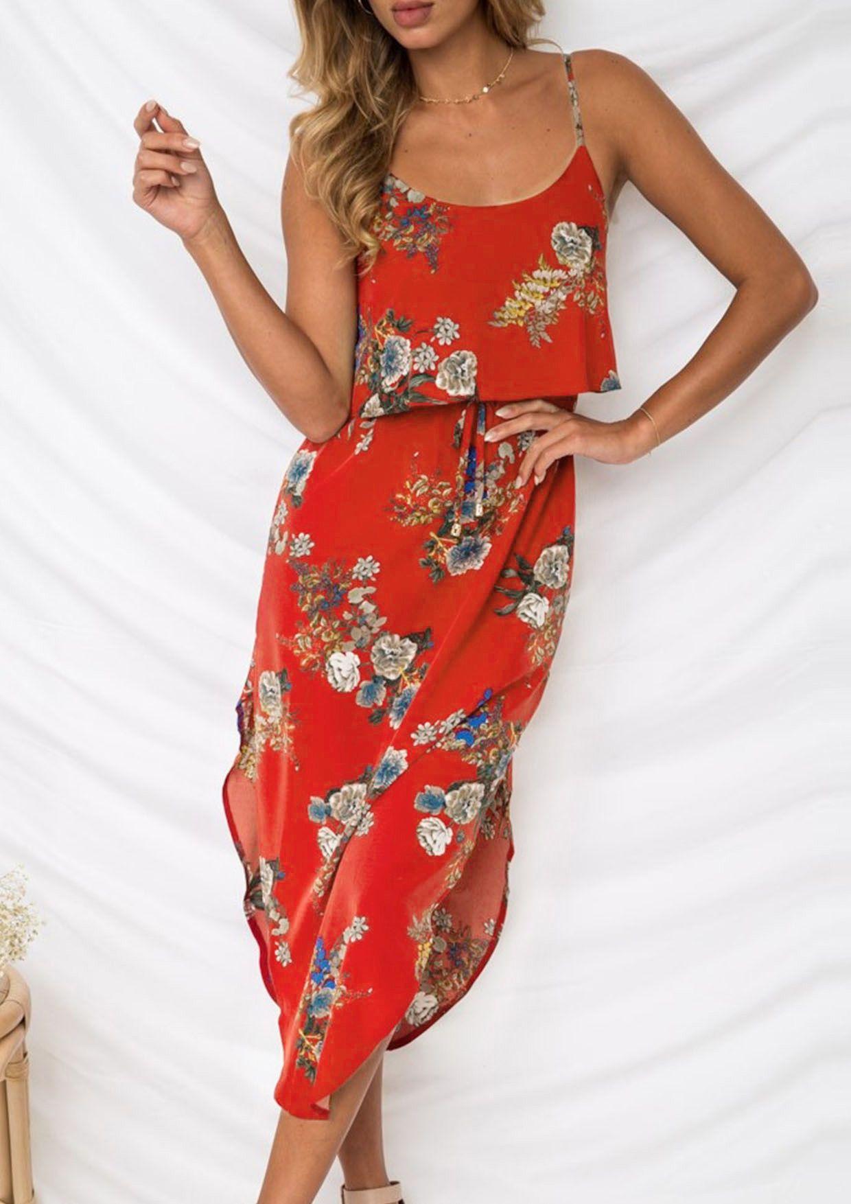 2019 Summer Dress For Women Womens Floral Dress Long Dress Casual Summer Summer Dresses For Women [ 1754 x 1240 Pixel ]