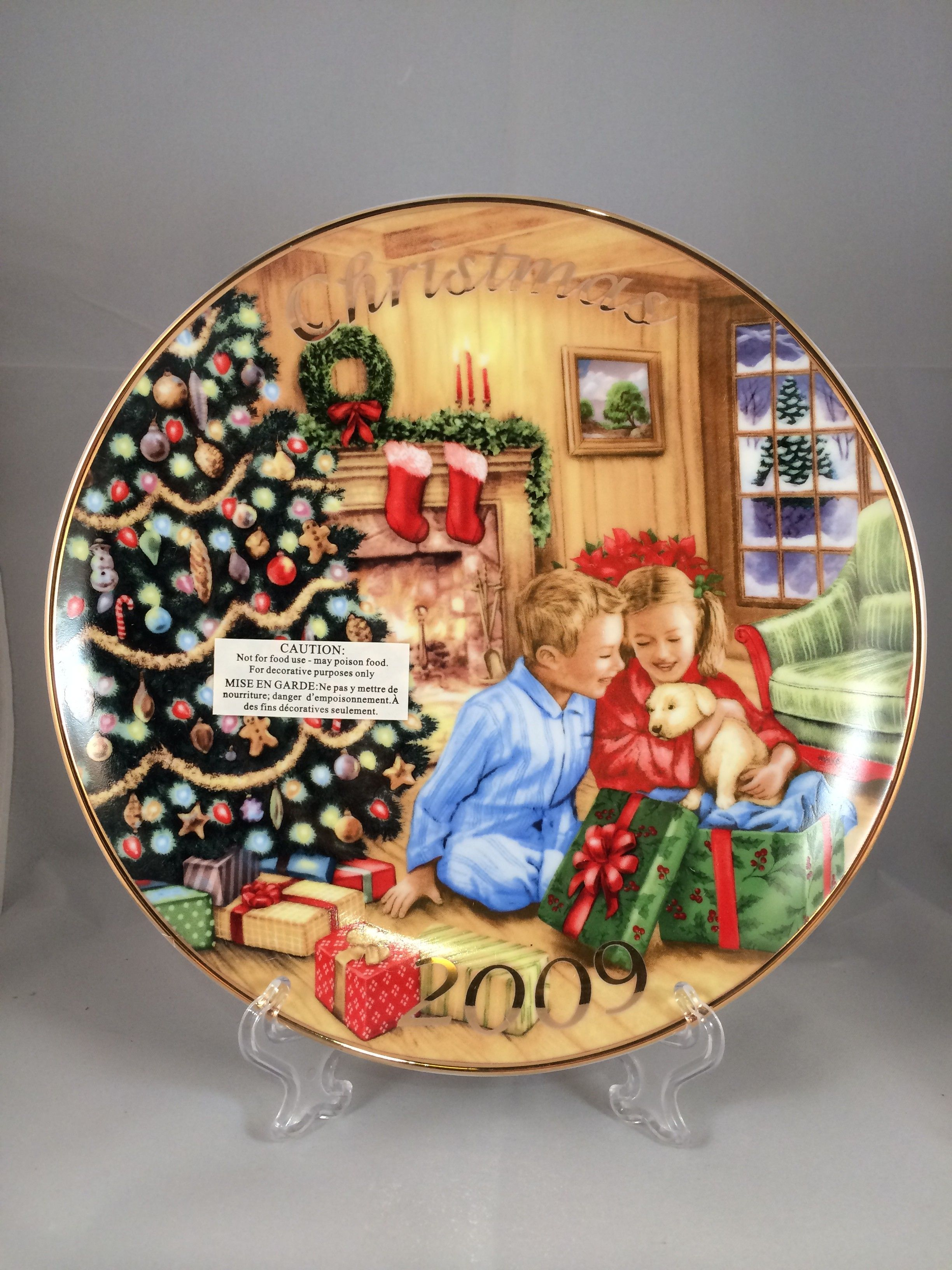 2009 avon collectible christmas plate caucasian new in original box findavoncom