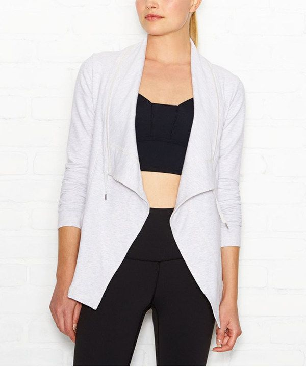 89558e30c7f Look at this lucy Heather Dove Gray Studio Flow Wrap Jacket on #zulily  today!