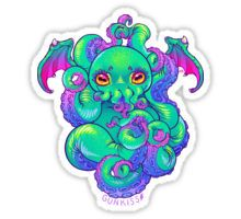 Cthulu Vinyl Decal Hello Cthulu Sticker Baby Cthulu