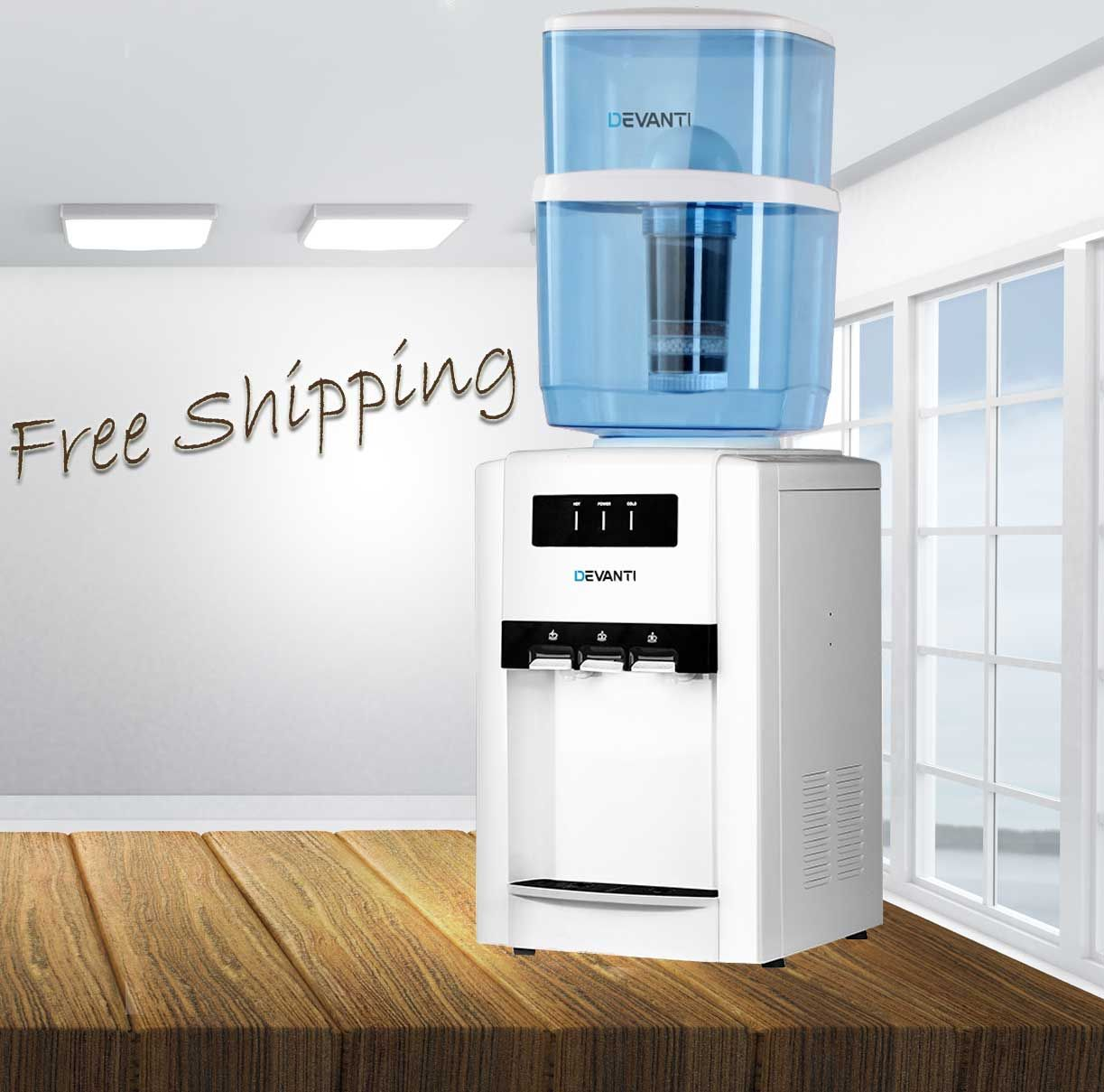 22l Countertop Water Dispenser Bench Top Cooler Filter Purifier
