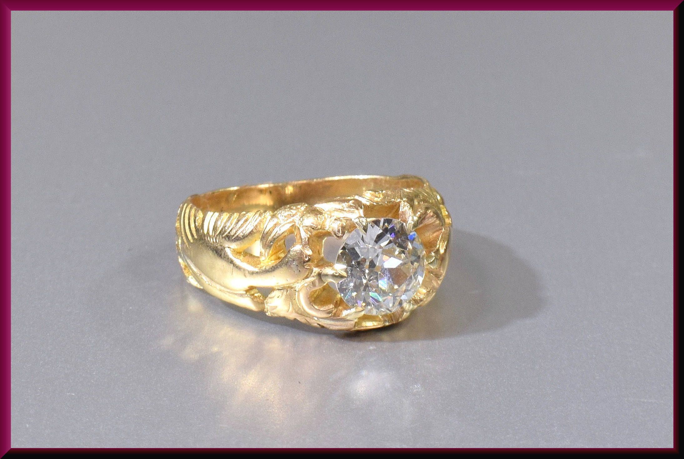 Victorian Engagement Ring Antique With Old European Cut Diamond Platinum Wedding By Antiquejewelrynyc