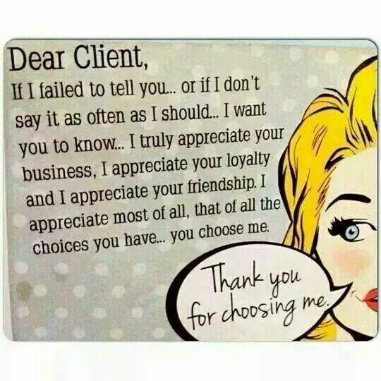 Dear Client Salon Promotions Salon Quotes Salons