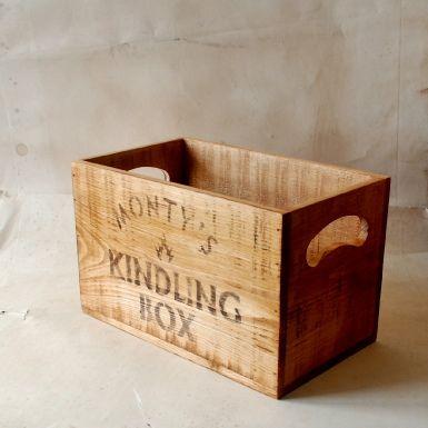 Vintage Wooden Crate for Kindling
