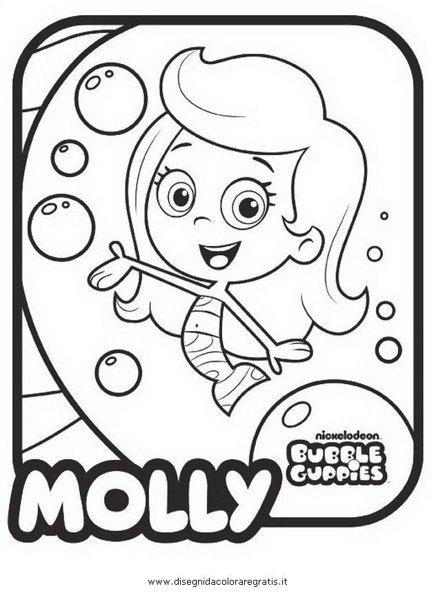 Bubble Guppies: Dibujos de los Bubble Guppies para colorear ...