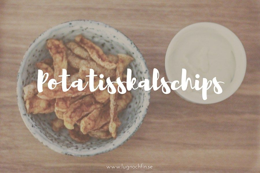 Recept: Potatisskalschips (i mikron)