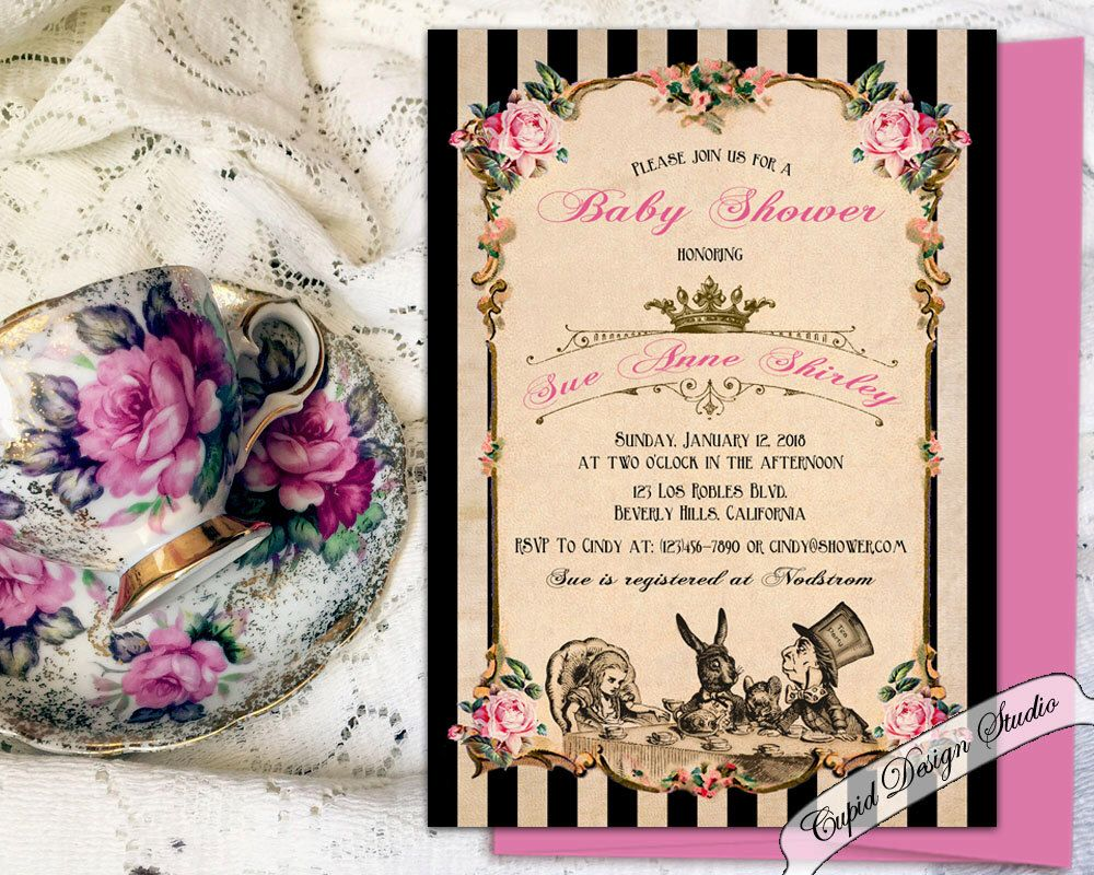 mad hatter teparty invitations pinterest%0A Find this Pin and more on Alice in Wonderland Party