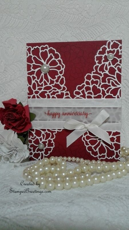 Made with the So In Love bundle from Stampin' Up!  More information on my blog - http://stampedgreetings.com