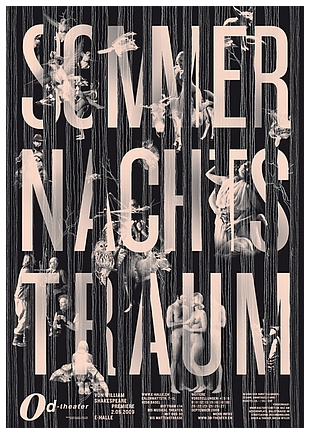 Sommernachtstraum poster for Od-Theater, 2009 by Jiri Oplatek and   Simon Stotz/Serigraphie Uldry