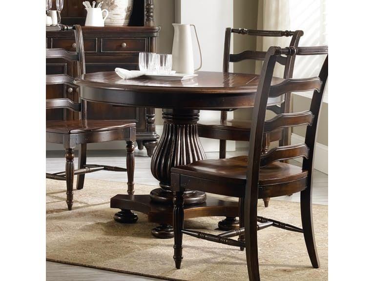 Hooker Furniture Eastridge Inch Round Pedestal Dining Table - 44 inch round pedestal dining table