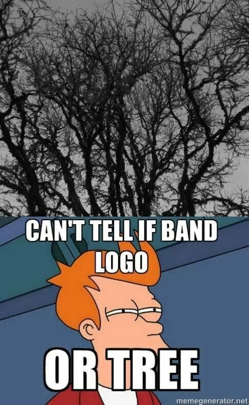 Hmm Lol Joke On Brutal Metal Band Logos Metal Meme Metal Band