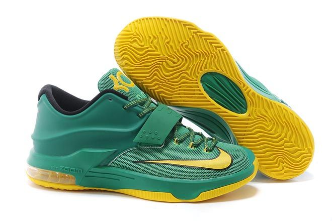 c4d60ed364d2 Men Size Nike KD Zoom Kevin Durant 7 VII Green Yellow Athletic Footwear