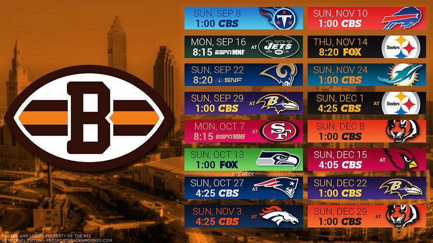 Cleveland browns 2019 desktop pc city nfl schedule