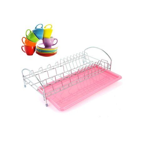 Dish Drying Rack Walmart Stainless Steel Dish Drying Rack Kitchen Tools Pink