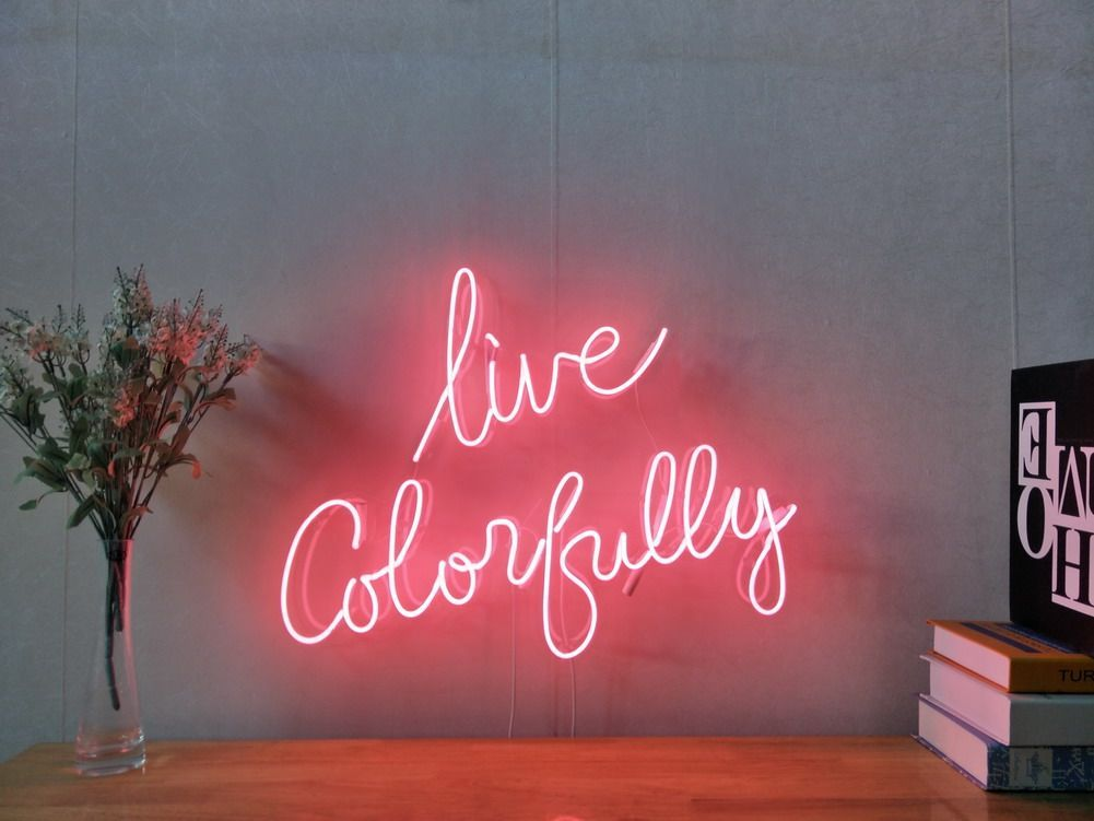 It Was All A Dream Custom Dimmable LED Neon Signs for Wall Decor Customization Options: Color, Size, Dimming, Wall Mounted, Desktop Type, Hanging in a Window//Ceiling, Electrical//Battery powered
