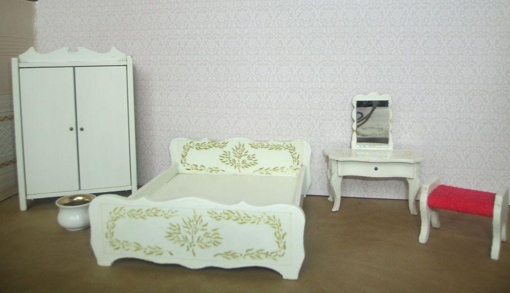 Etagenbett Puppenstube : Details zu 2 x altes bett 60er jahre schlafzimmer lundby lisa