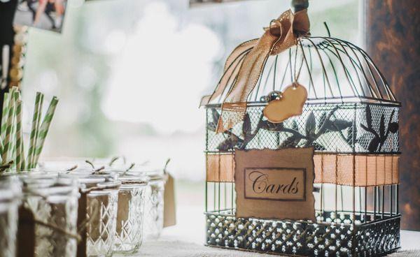 Dressed up birdcage cardholder