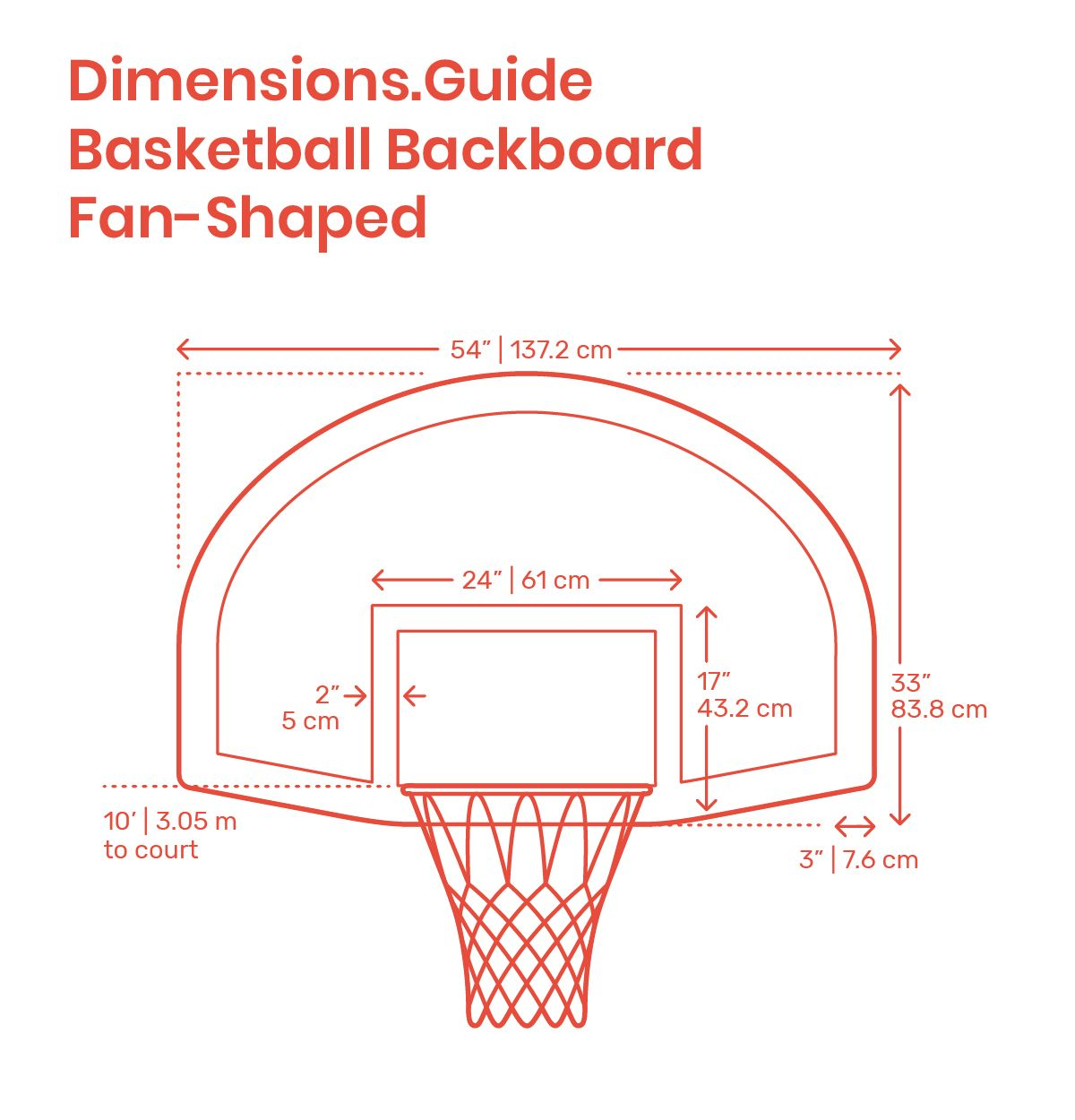Basketball Backboard Fan Shaped Basketball Backboard Basketball Backboards Basketball