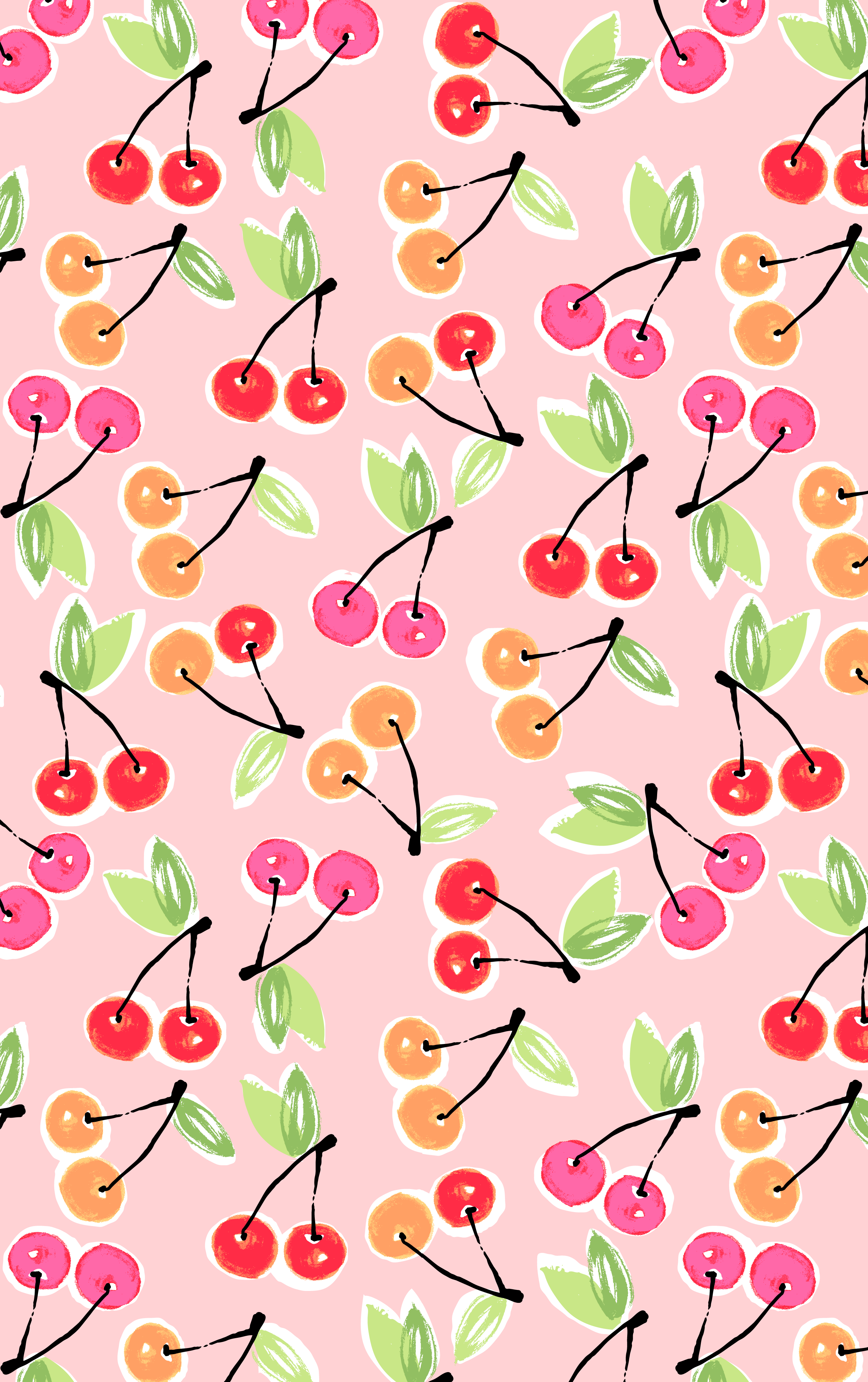 Cherry print printsbyhue prints and patterns for Wallpaper prints patterns