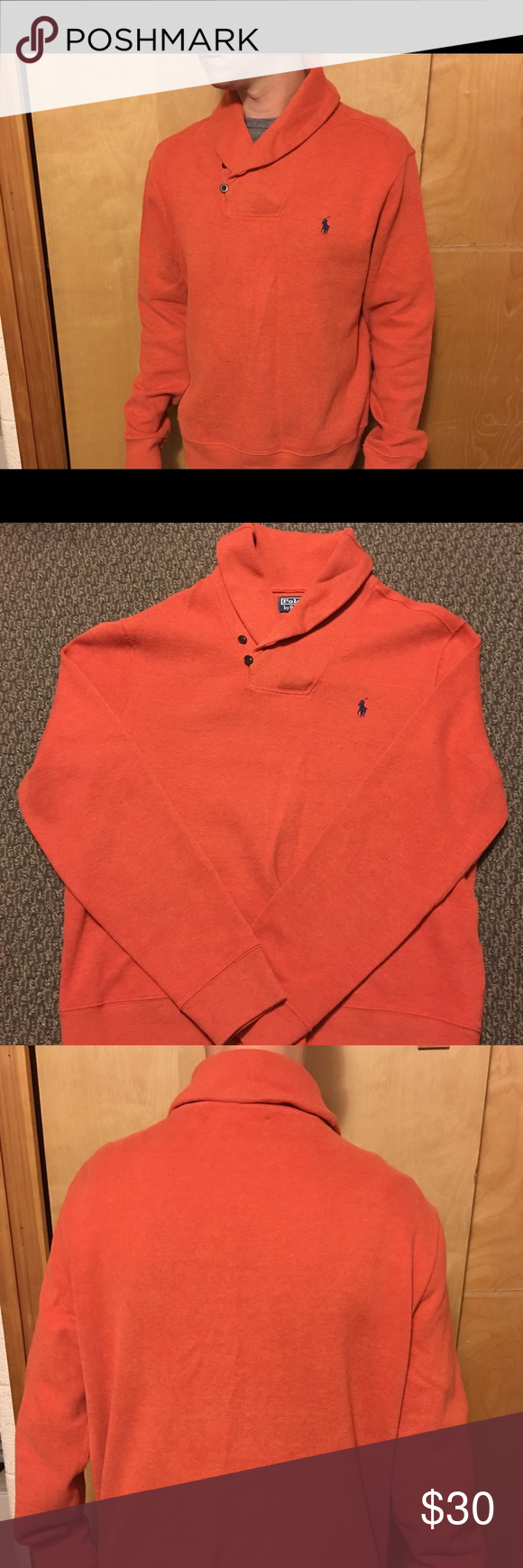 Ralph Lauren polo sweater. Fits size large. This is like brand new. No flaws and very well could have never been worn at all. These are not cheap as I'm sure you know New from RL. Stay classy San Diego with this delightful treat from polos classic sweater collection. Xl but fits Like a large. Polo by Ralph Lauren Shirts Sweatshirts & Hoodies
