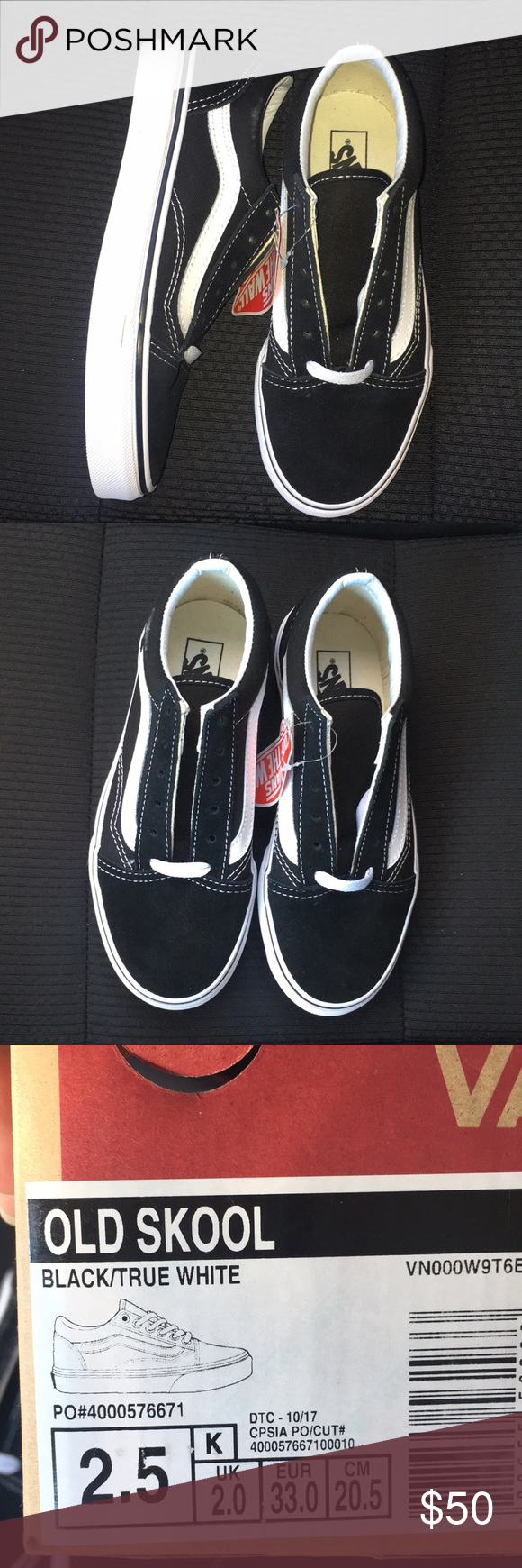 81c42a018d Old skool black and white NWT