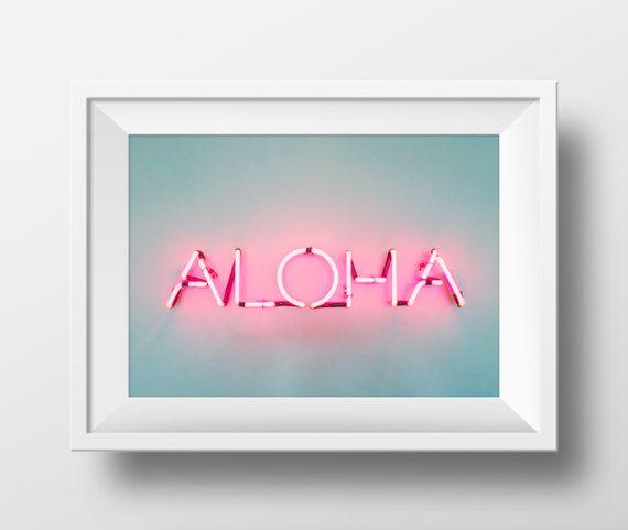 Aloha drucken Leuchtreklame bedruckbar Neon unterzeichnen