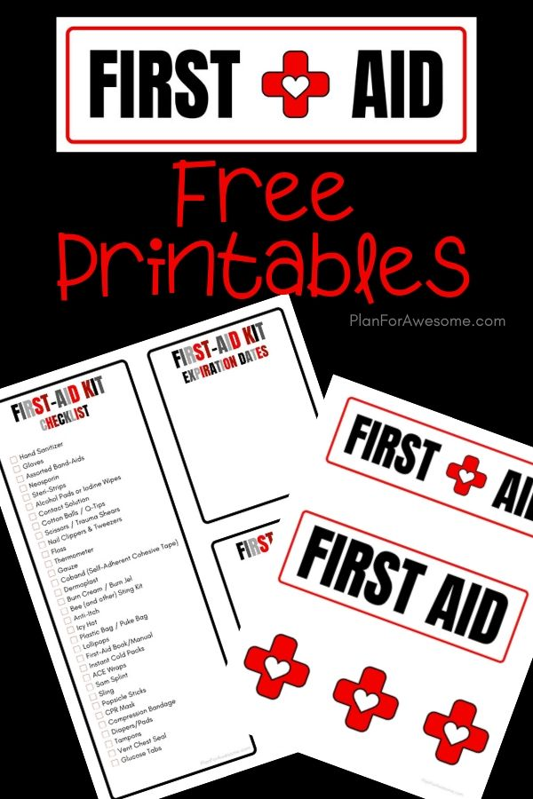 DIY First Aid Kit for Families with a Free Printable List - Plan For Awesome