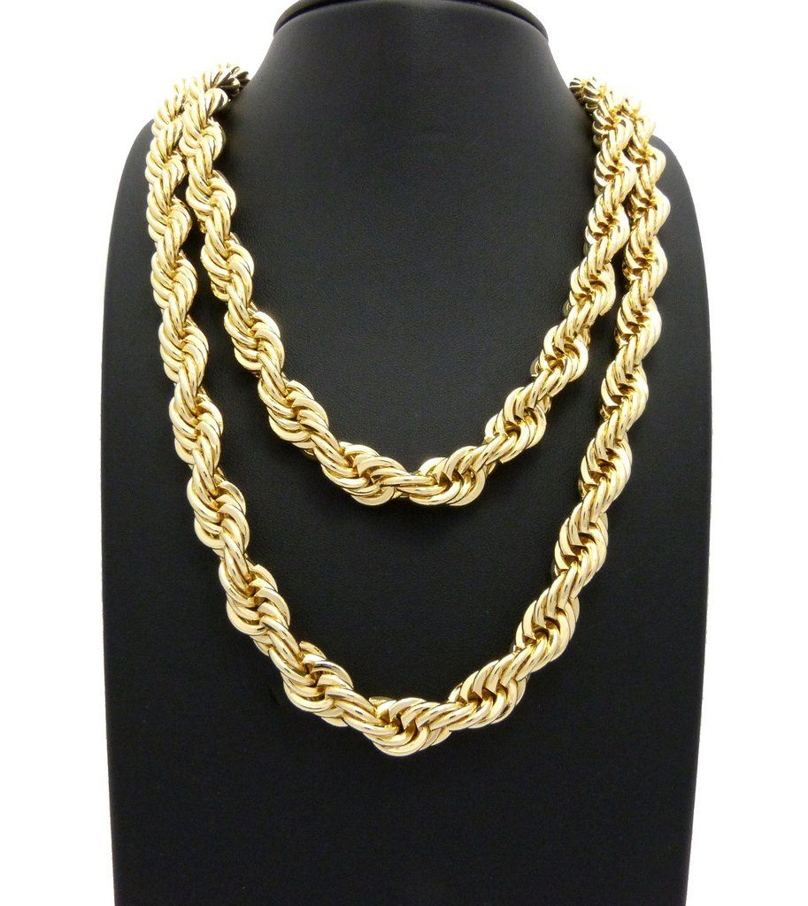 New Hip Hop Rope Chains 10mm 22 10mm 26 Rope Chain Necklaces Set With Images Fashion Necklace