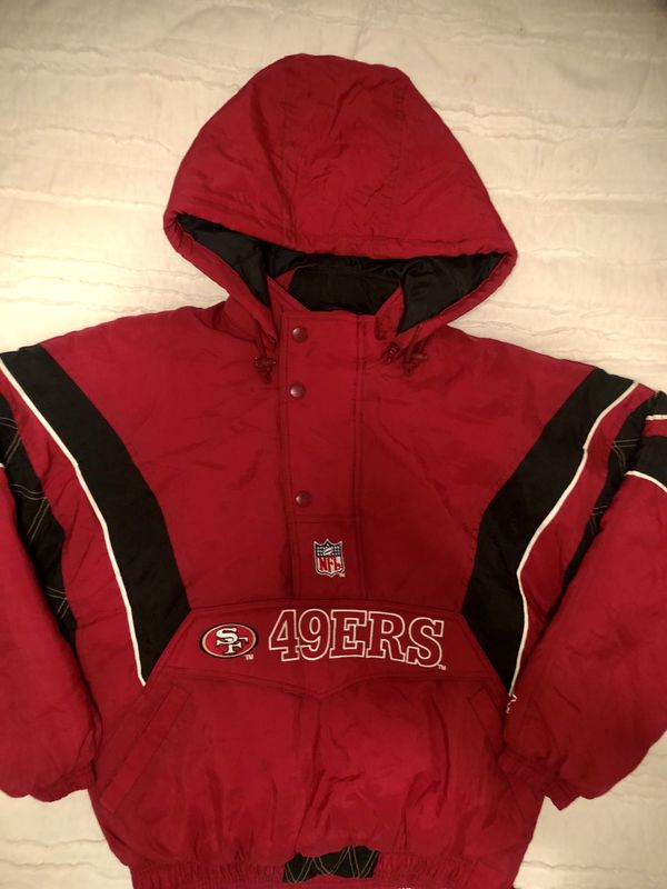 reputable site ca022 ec55d Vintage 49ers Starter quilted winter pullover jacket for ...