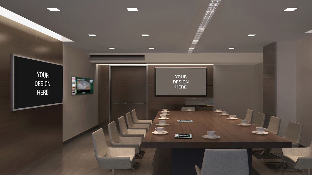 TV Screens In Office Mockup Conference RoomMockupScreensInterior DesignInteriorsEspeciallySwitzerlandPlanners