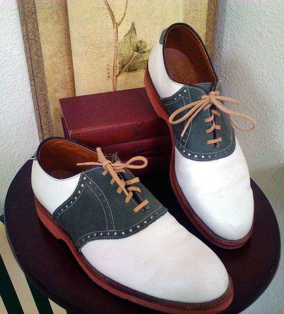 Vintage 1950s Foot Joy Men's Saddle Shoes by thevintagerevival, $75.00