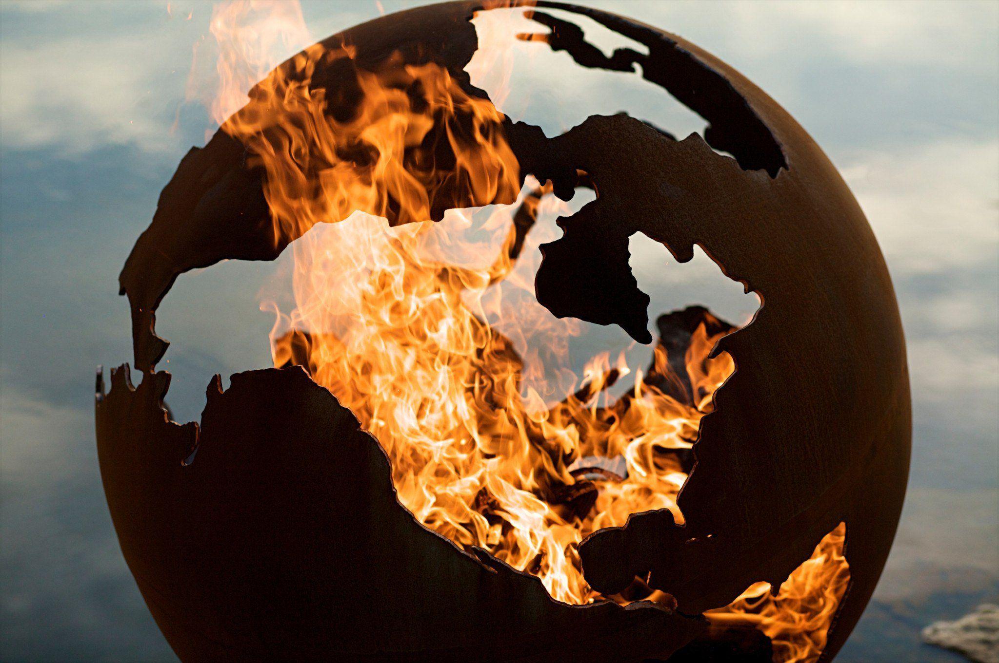 Картинка горящий глобус