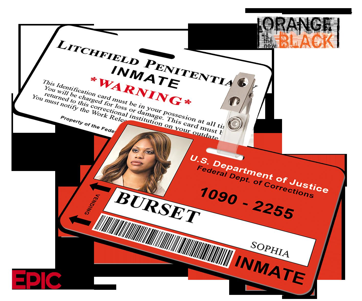 Orange is the New Black Inspired Inmate ID Card - Burset, Sophia