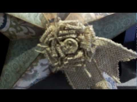 Close To My Heart Burlap Flower - How to create one with a few simple products. Use these for home decor, decorating wreaths, packages and more!