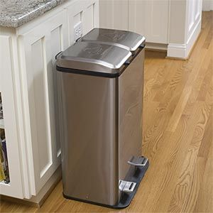 Dual trash can for trash and recycling Home Improvement