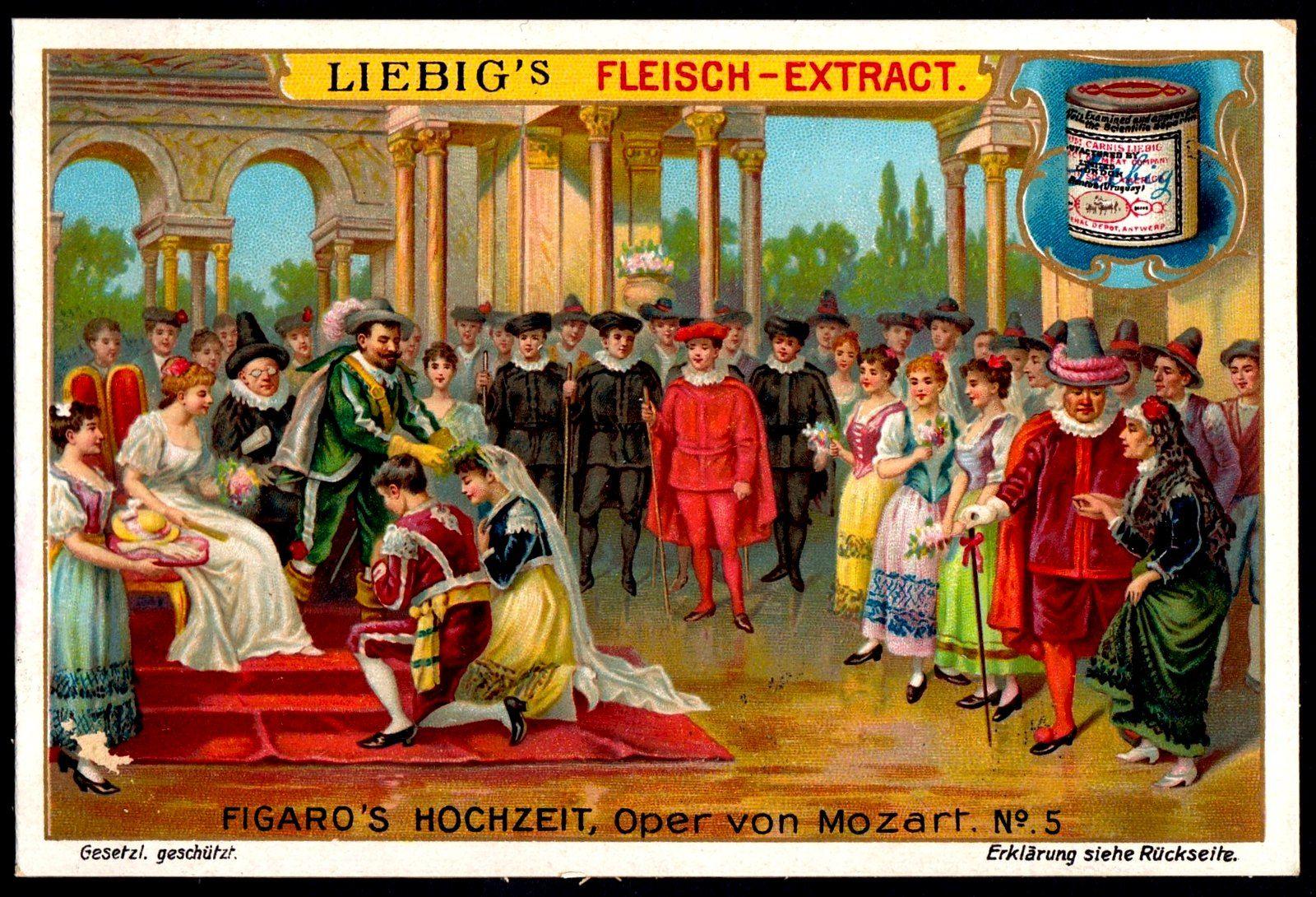 Liebig Tradecard S828 The Marriage Of Figaro Celebrity Weddings Opera Amadeus