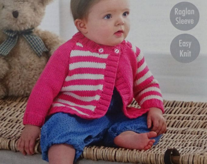 76915ad4f Baby Knitting Pattern K3136 Babies Coat Jumper Hat Cable Outdoor Set ...