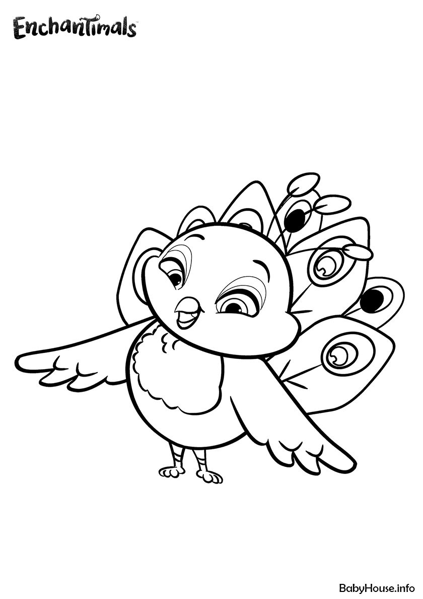 Peacock Flap High Quality Free Coloring From The Category Enchantimals More Printable Pictures Coloring Pages Coloring Books Free Printable Coloring Pages