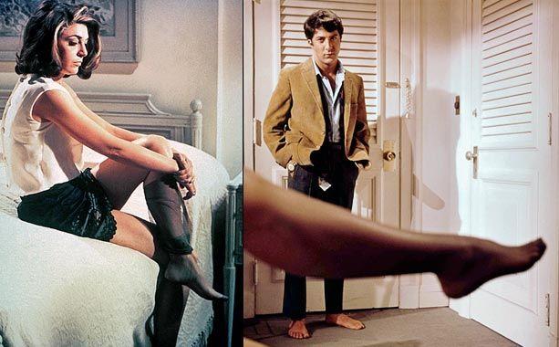 Mrs robinson vintage nylons stockings striptease big boobs - 3 part 5